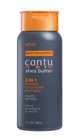 13.5/CANTU MEN's 3 in 1 Shampoo/Conditioner/Body Wash $6.99