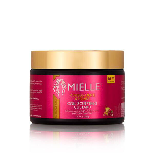 MIELLE POMEGRANATE & HONEY COIL SCULPTING CUSTARD 12oz: $12.99