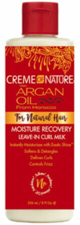 Creme of Nature Argan Oil from Morocco moisture recovery leave in Curl milk $7.99