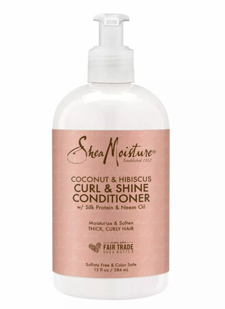 Shea Moisture  coconut and hibiscus curl and shine conditioner 8 fluid ounces $ 12.99