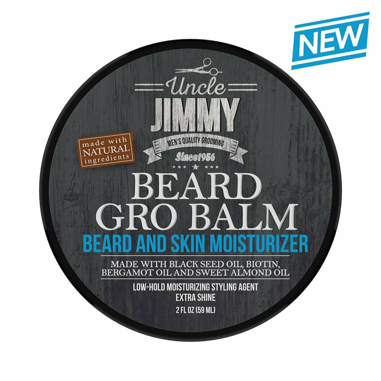Uncle Jimmy Beard Gro Balm  - 2oz:$11.99