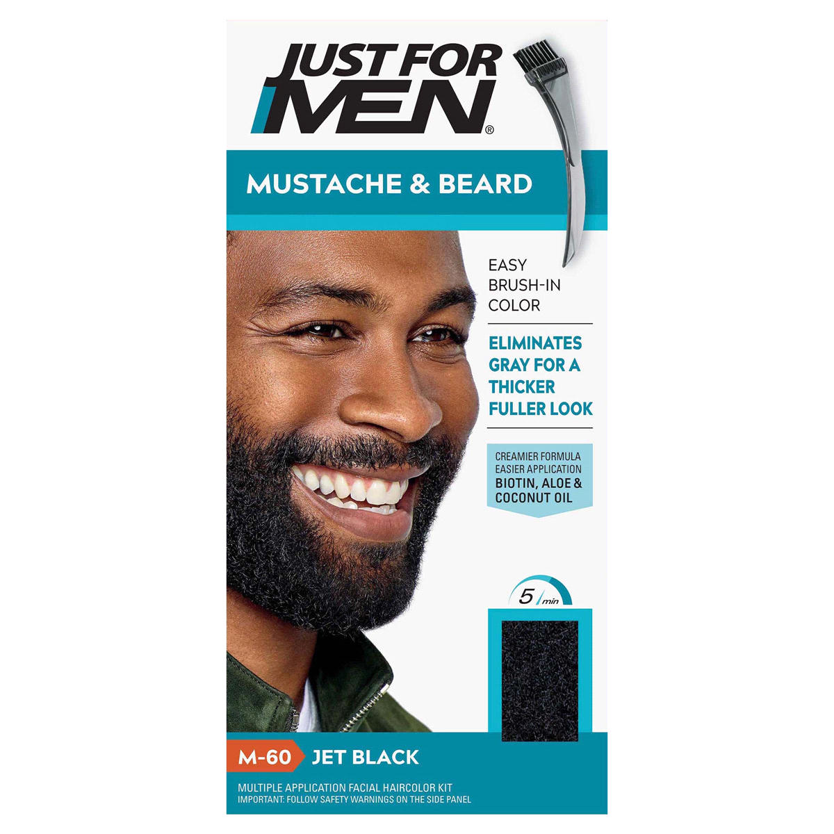 Just For Men Mustache & Beard Color Jet Black M-60: $7.99