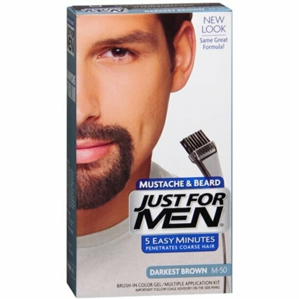 Just For Men Mustache & Beardn Darkest Brown: $7.99