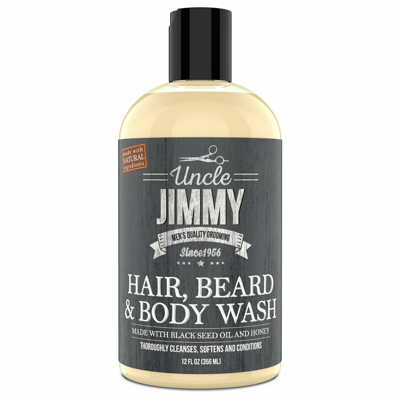 Uncle Jimmy Hair, Beard & Body Wash 12 floz: $11.99