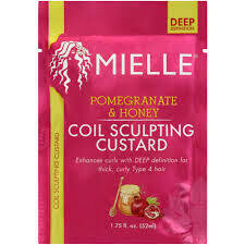 Mielle Pomegranate & Honey Coil Sculpting Custard packet $3.99