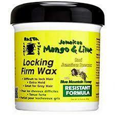 Jamaican Mango & Lime Locking Firm Wax Extra Hold Moringa Seed Oil Manuka Honey 16 fl oz: $8.99