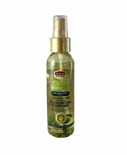 African Pride Olive Miracle Heat Protection & Shine Mist 4oz