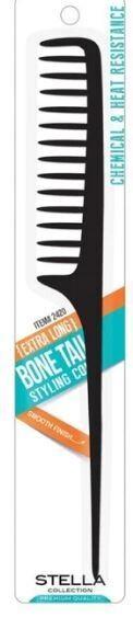 2419 STELLA Tapered bone tail styling comb $1.99