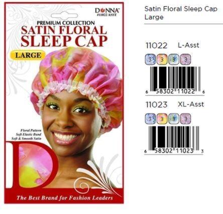 11022 Donna Satin Floral Sleep Cap: $3.99