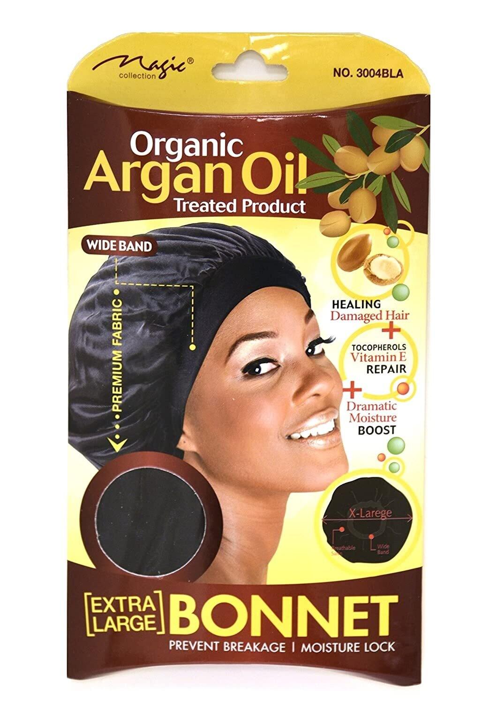 Magic Collection Argan Oil Extra Large Bonnet black: $4.99