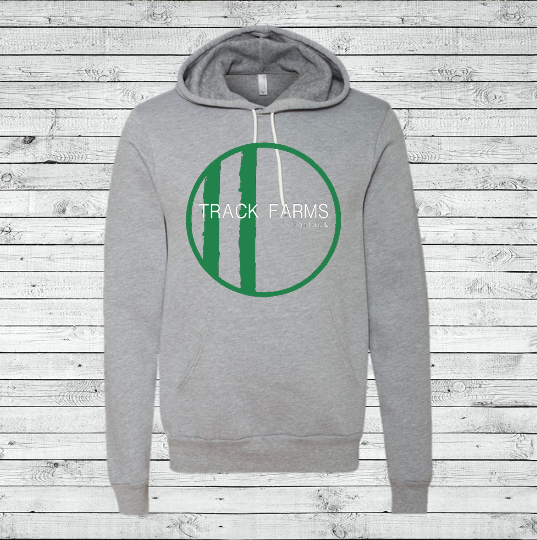 Unisex Hoodie (Green Logo on Gray)