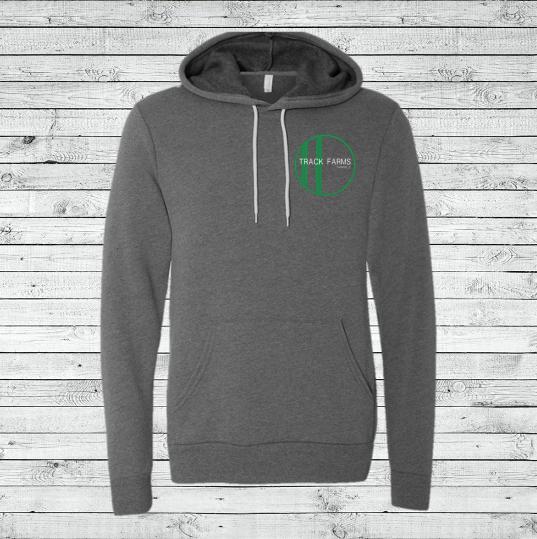 Unisex Hoodie (Green Logo on Charcoal)