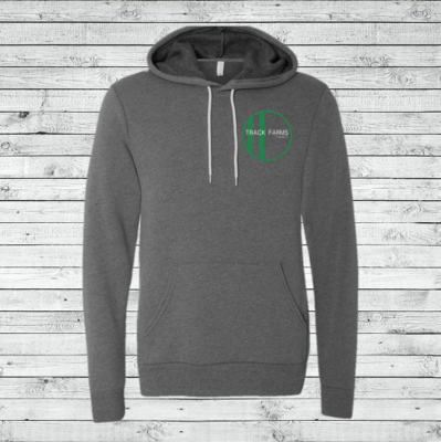 Unisex Hoodie (Green Logo on Charcoal)