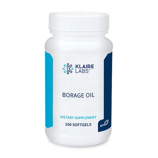 BORAGE OIL  100 capsules  Klaire Labs