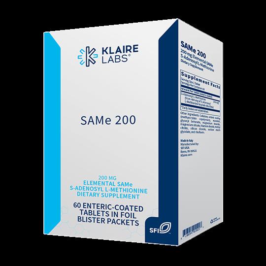 SAMe 200,Klaire Labs, 60 tablets