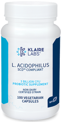 L. ACIDOPHILUS 160 mg 100 VEGETARIAN CAPSULES Klaire Labs