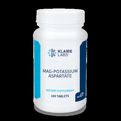 Mag-Potassium Aspartate,Klaire Labs,100 TABLETS