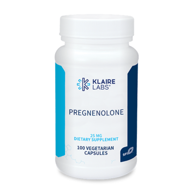 Pregnenolone 25 mg 100 VEGETARIAN CAPSULES  Klaire Labs