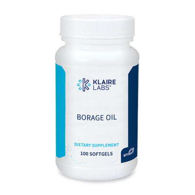 BORAGE OIL  100 capsules  Klaire Labs