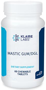 Mastic Gum DGL,Klaire Labs,60 CHEWABLE TABLETS