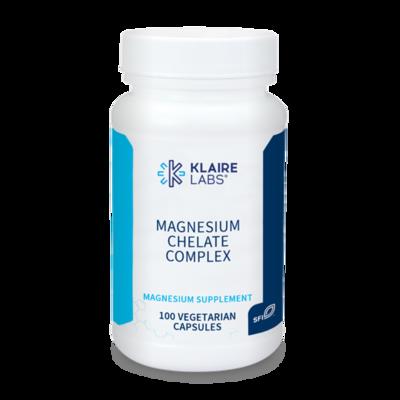 MAGNESIUM CHELATE COMPLEX 150 mg 100 CAPSULES Klaire Labs