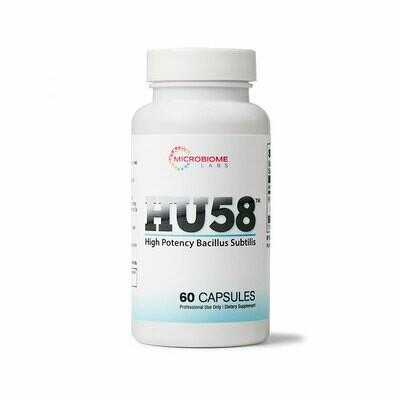 HU 58 High Potency Bacillus Subtilis ,Microbiome Labs 60 capsules