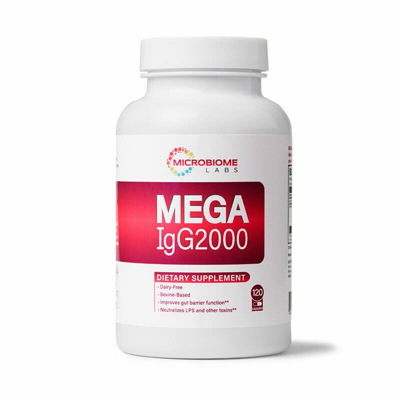 MegaIgG2000  120 capsules Microbiome