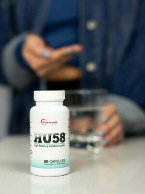 HU 58 High Potency Bacillus Subtilis 60 capsules Microbiome Labs