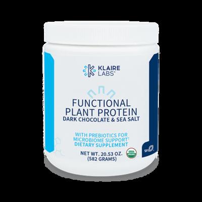 FUNCTIONAL PLANT PROTEIN DARK CHOCOLATE 20.5 OZ (582 G) POWDER Klaire labs