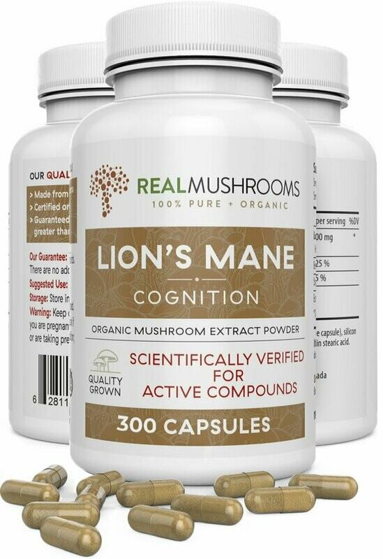 Lions Mane 300 capsules Real Mushrooms
