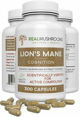 Lions Mane 300 capsules Real Mushrooms