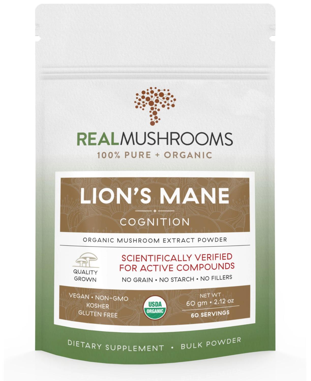 Lions Mane  60 g  Bulk Powder Real Mushrooms
