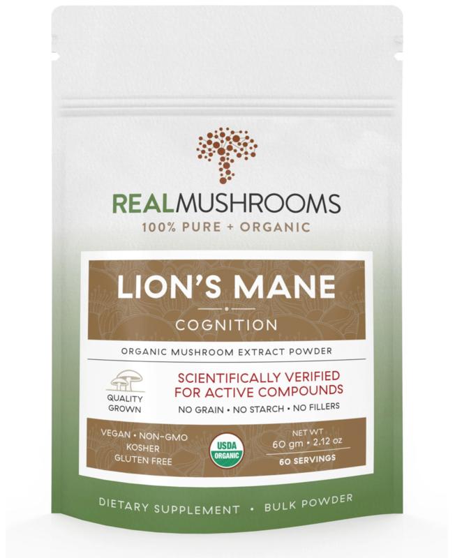 Lions Mane Powder 60 g  Bulk Powder,Real Mushrooms