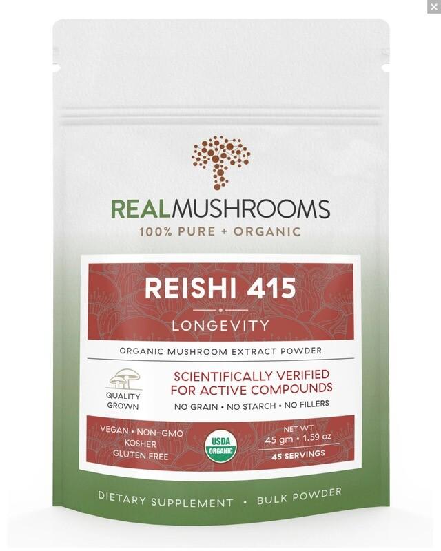 Reishi 415 ,45g Bulk Powder ,Real Mushrooms