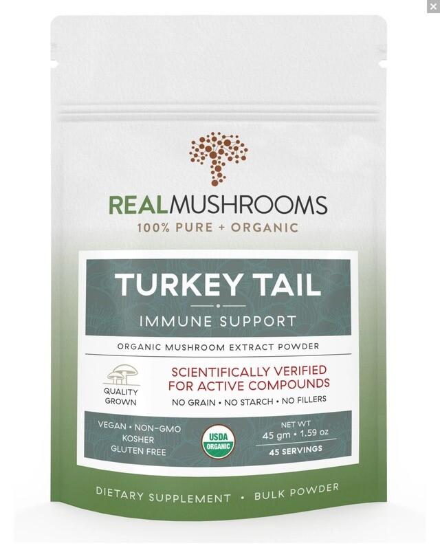 Turkey Tail Extract 45g Bulk Powder ,Real Mushrooms