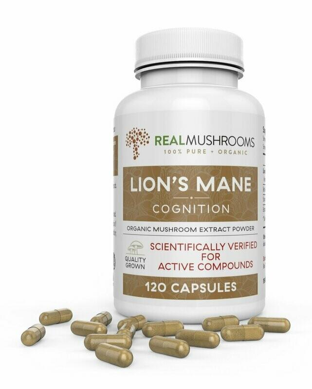 Lions Mane Extract Capsules ,Real Mushrooms 120 capsules