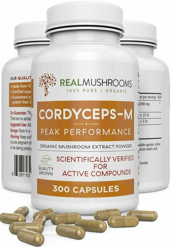 Cordyceps-M Capsules 300 capsules ,Real Mushrooms