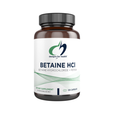 Betaine HCl, Designs for Health 750mg, 120 capsules