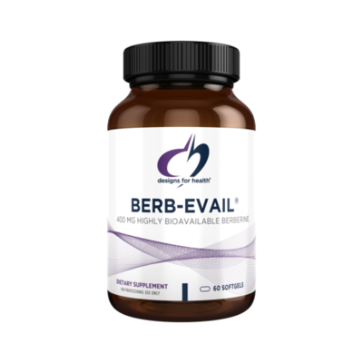 Berb-Evail, Designs for Health 400 mg,60 capsules