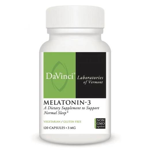MELATONIN-3, DaVinci Laboratories  3 mg,120 Capsules