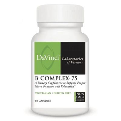 B COMPLEX-75 60 Vegetarian Capsules DaVinci Laboratories