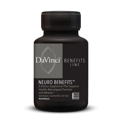 NEURO BENEFITS 90 Vegetarian Capsules DaVinci Laboratories