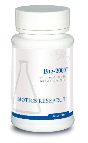 B12-2000, 60  Lozenges Biotics Research
