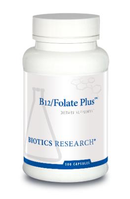 B12/Folate Plus™, Biotics Research,100 capsules