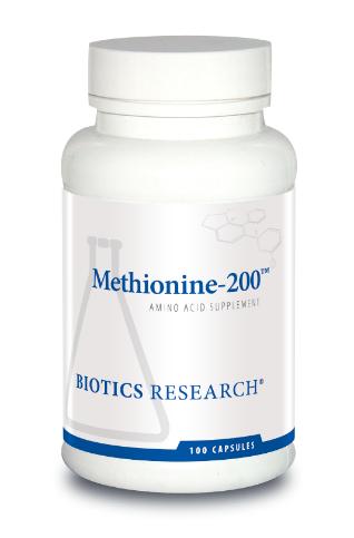 Methionine-200 ,100 Capsules Biotics Research