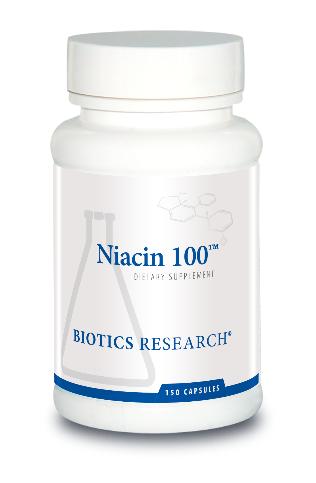 Niacin 100 mg 150 Capsules Biotics Research