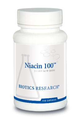 Niacin 100 mg 150 Capsules Biotics Research