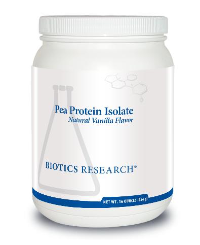 Pea Protein Isolate Natural Vanilla Flavor 454 g Biotics Research