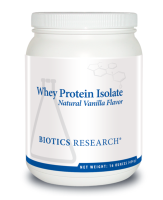 Whey Protein Isolate - Natural Vanilla Flavor 16 oz Biotics Research