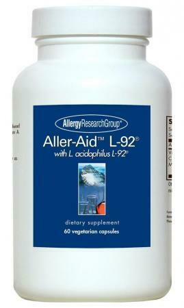 Aller-Aid L-92, 60 Vegetarian Capsules Allergy Research Group
